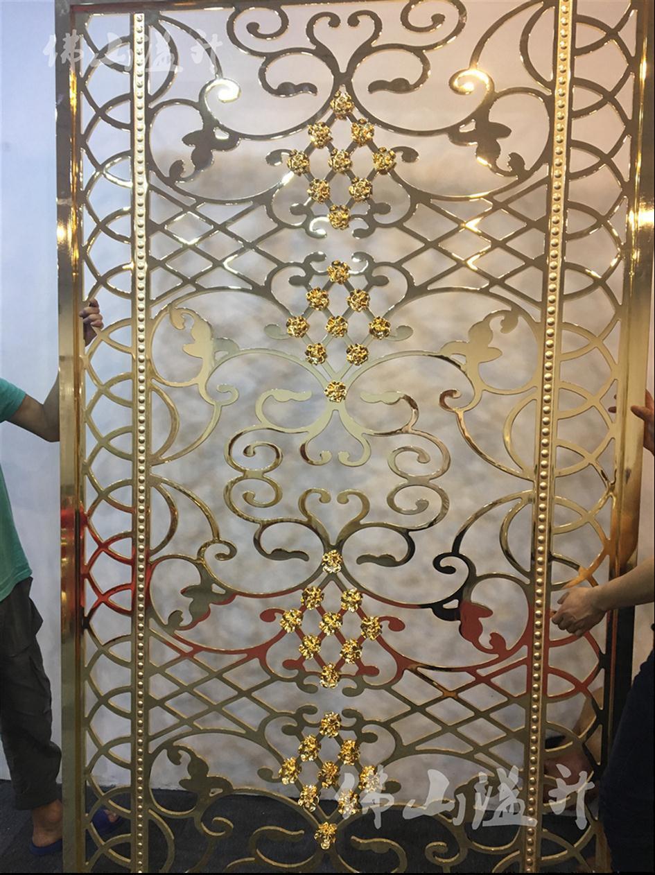 蚌埠别墅铜屏风