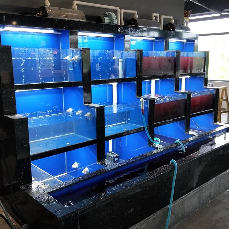 广州增城定做各类海鲜池、贝类池、活鱼池