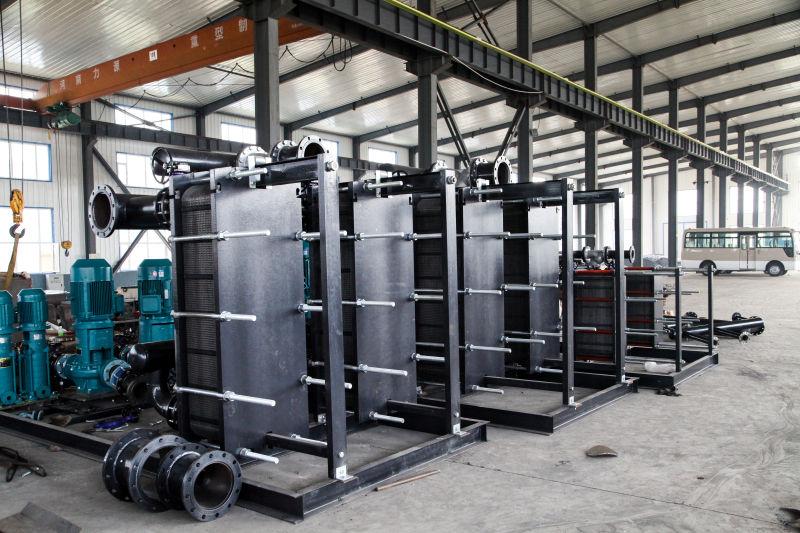 阜南縣空氣能熱泵配套水水板式換熱器熱交換器廠家潁上縣臨泉縣