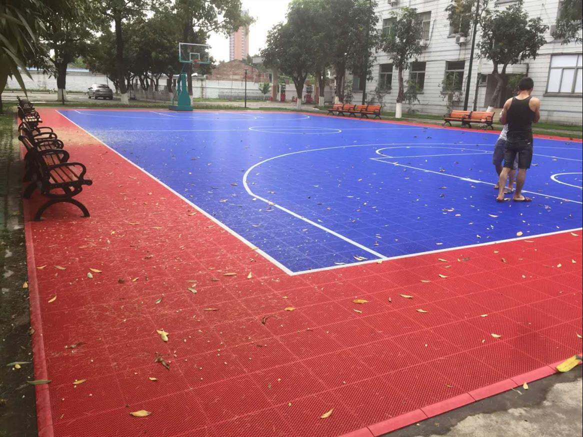钦州3mm塑胶篮球场施工