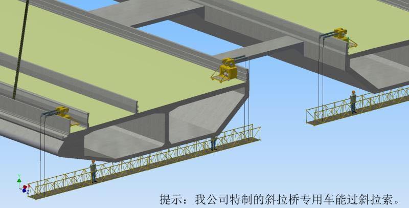 桥梁防腐喷漆用的桥梁检修车价格一套
