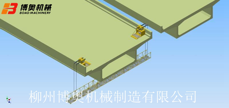 桥梁刷托架吊篮