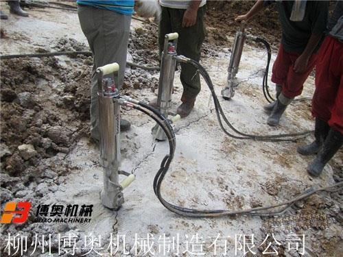 赣州液压岩石劈裂机公司