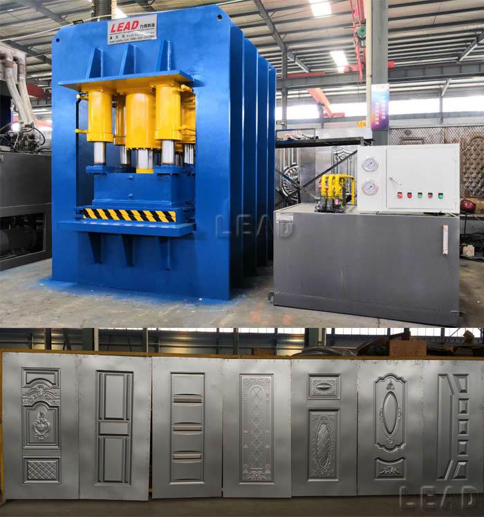 出口非洲钢木门液压机