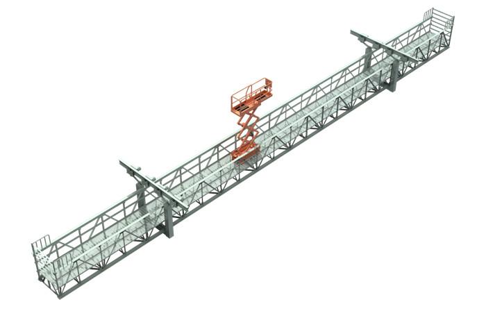 桥梁检修车轨道