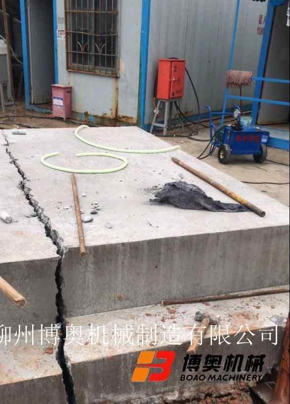 丹东附近的岩石破裂机