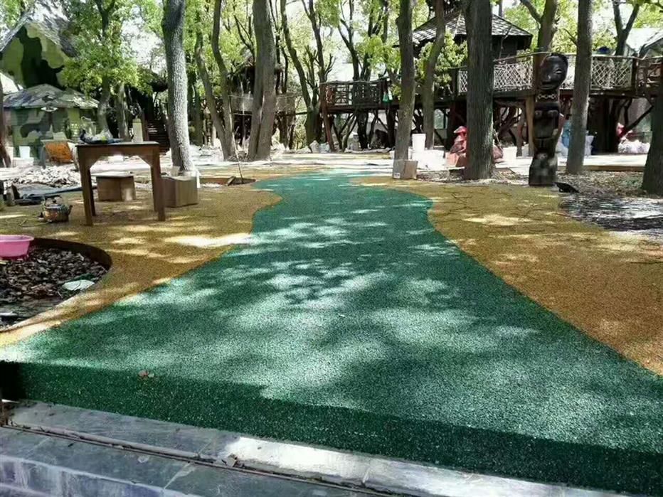 潍坊步行街人行道透水石子粘接胶制造厂