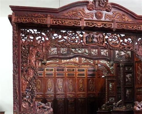 鄢陵木雕家具 旋木雕刻