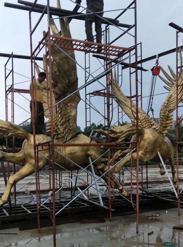 北海动物铜雕