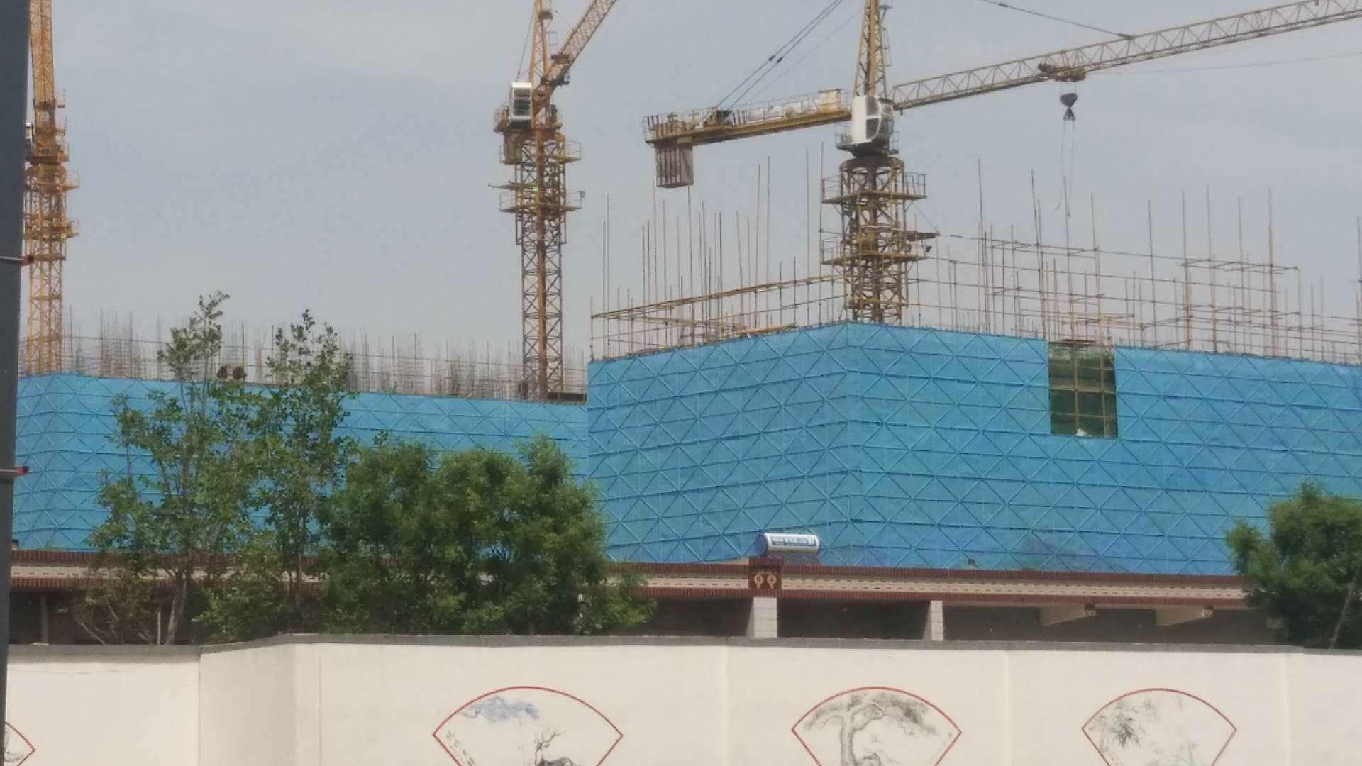蓝色建筑外墙防护网费用