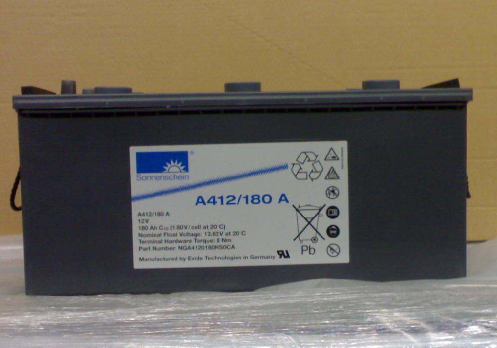 金华德国阳光胶体蓄电池A412/90A