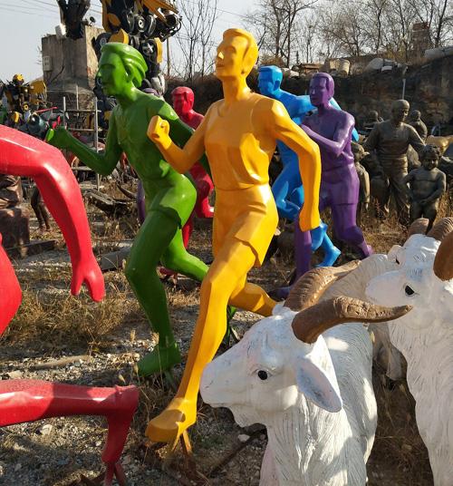 北海运动人物雕像