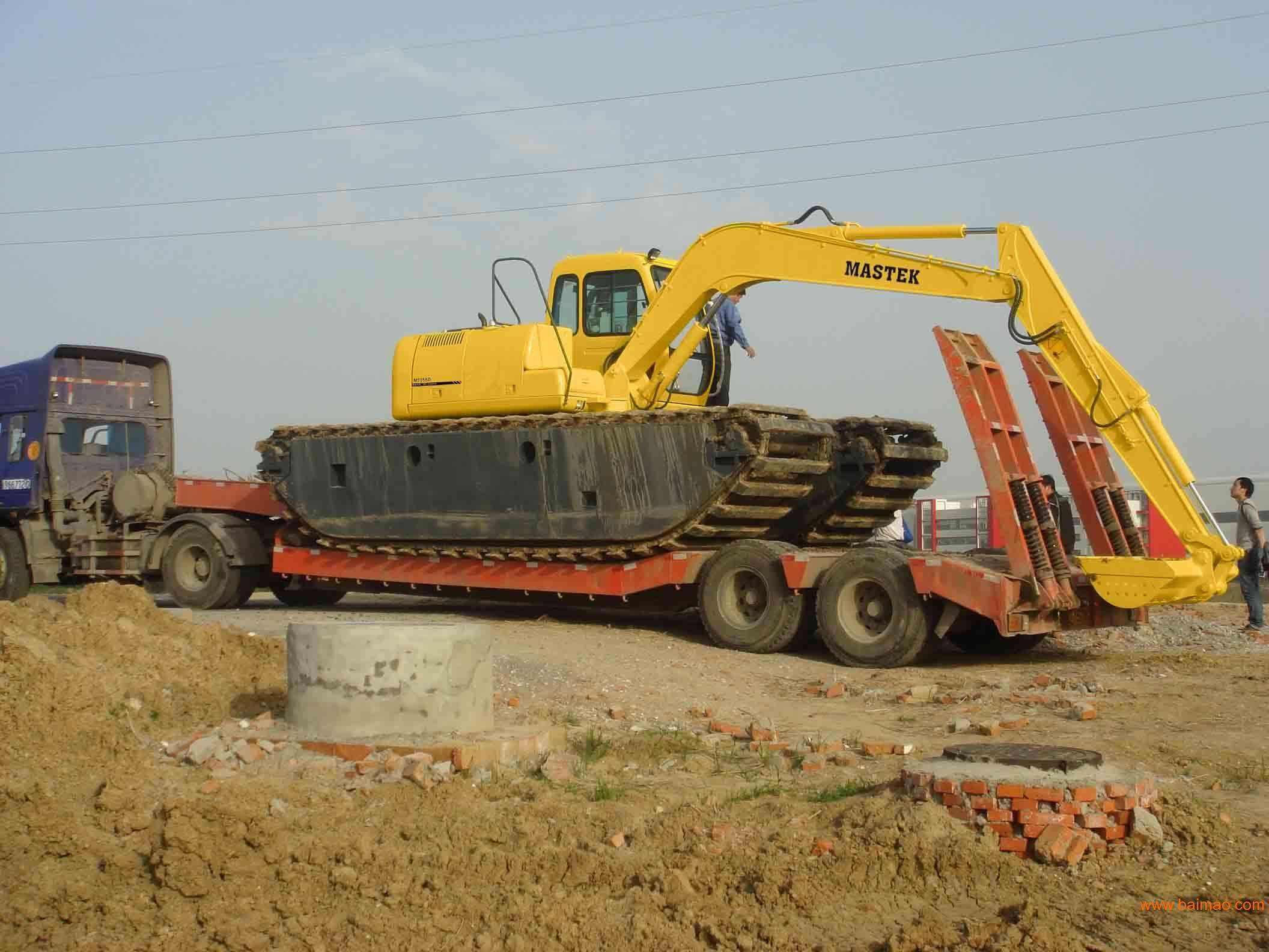烟台水陆挖机出租费用