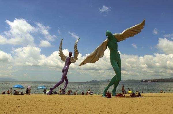赣州运动人物雕像