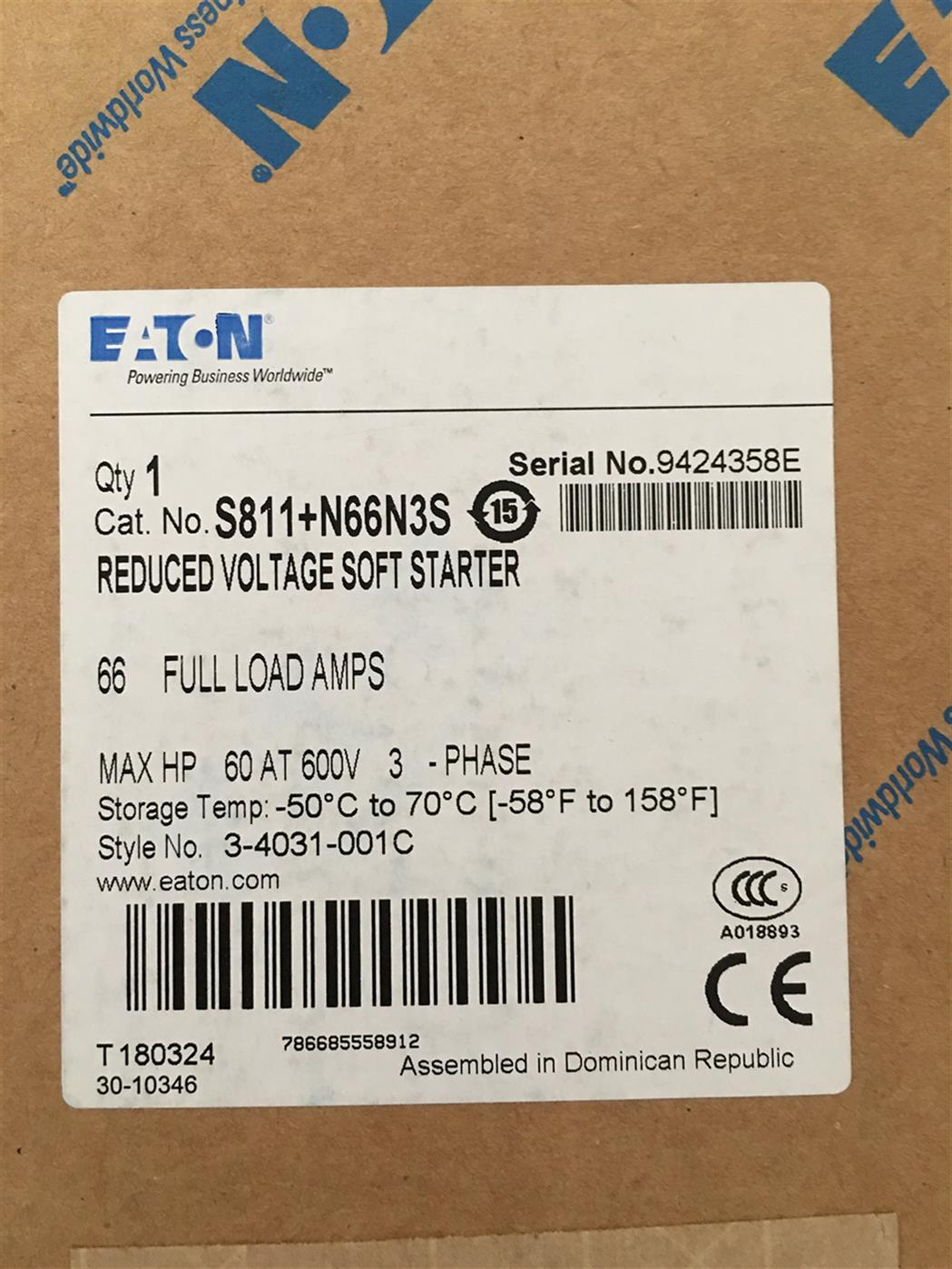 EML23EATON伊顿穆勒S801系列软启动器厂家