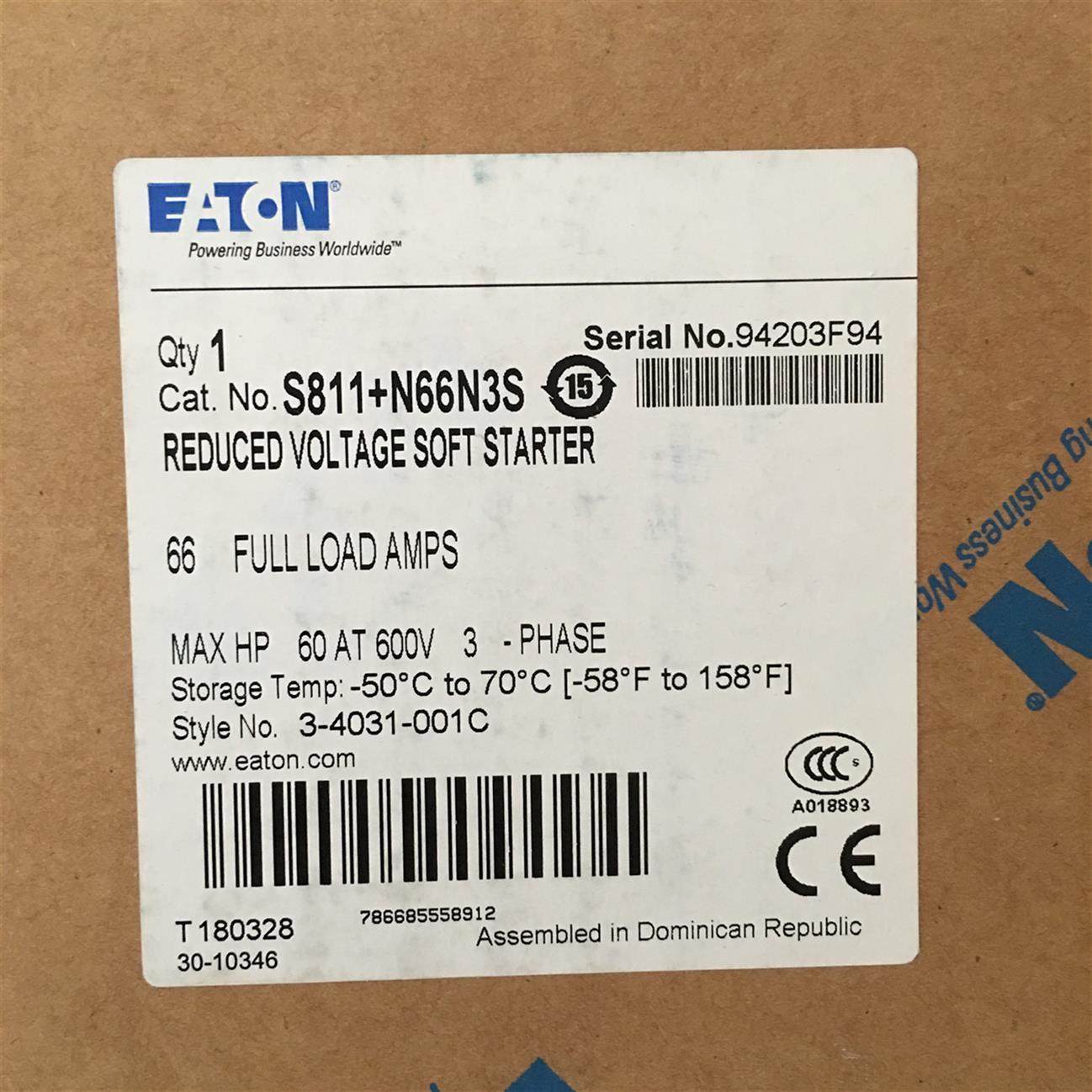 EMS38EATON伊顿穆勒S801系列软启动器供应商