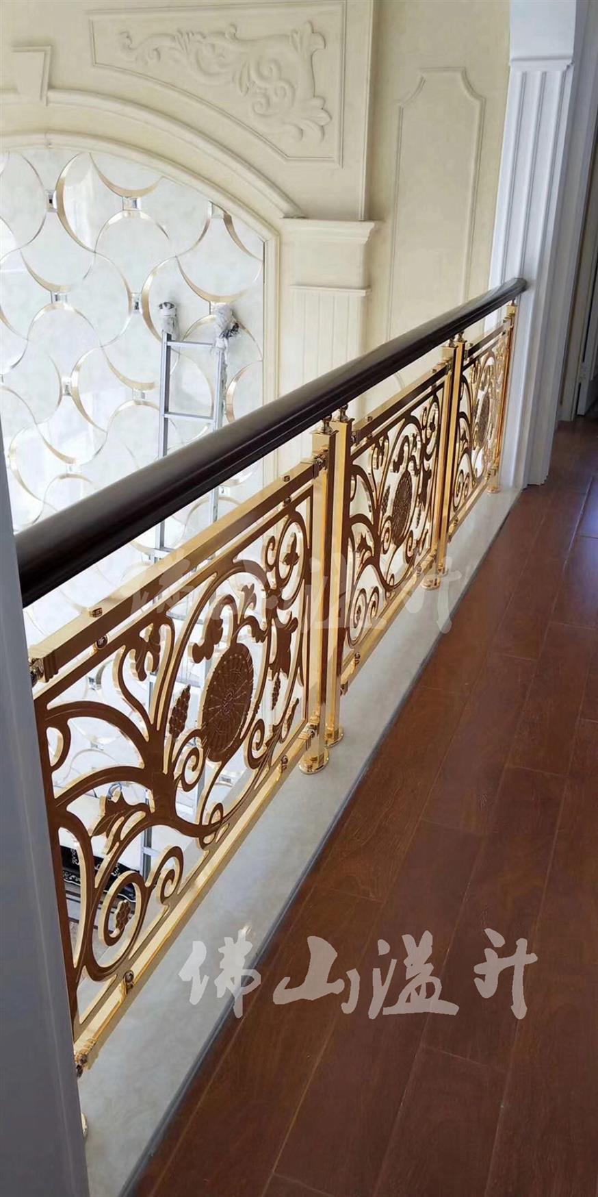 苏州设计全铜镂空设计铜艺楼梯扶手厂