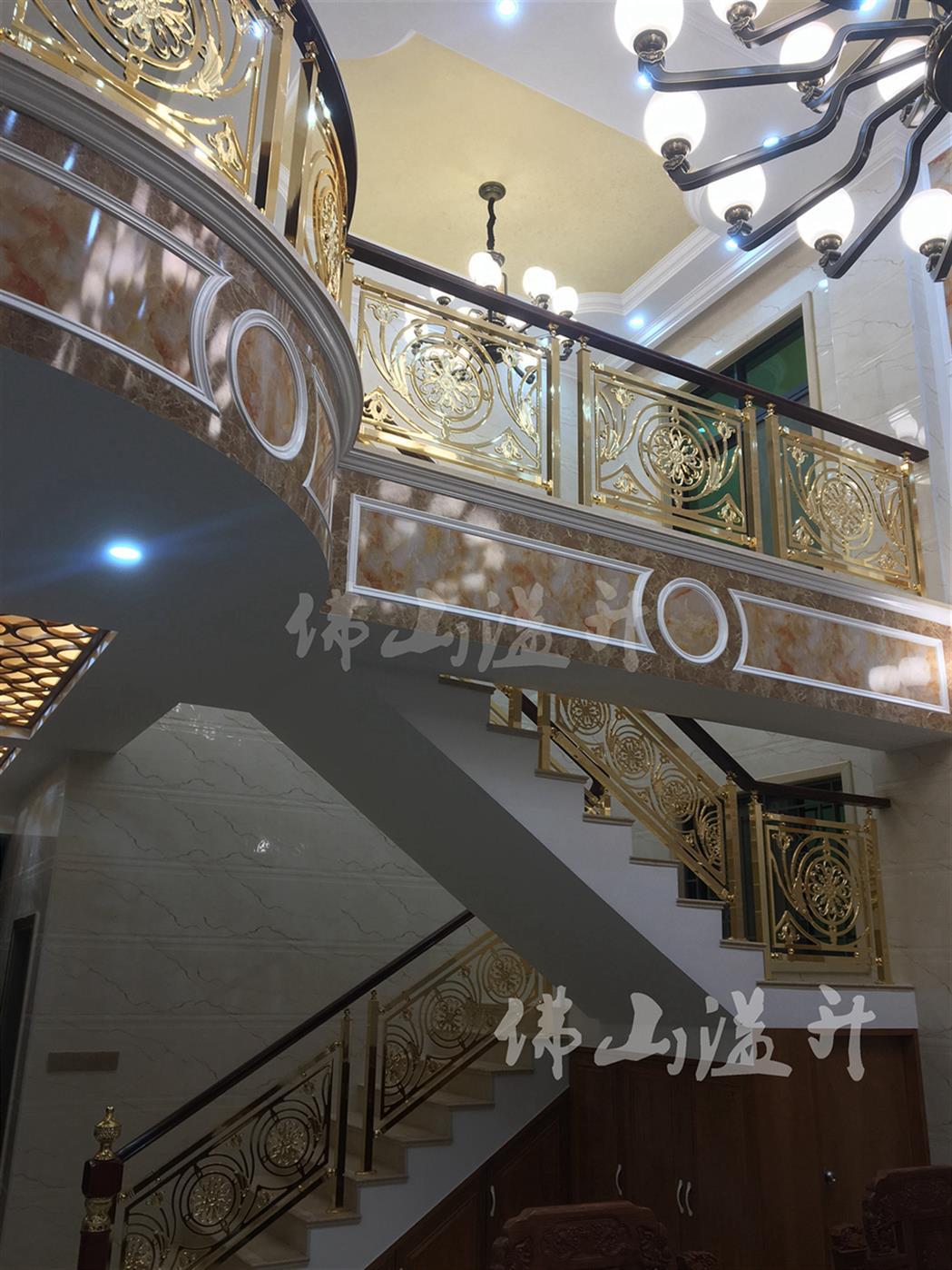 北京高端铜艺楼梯扶手价格