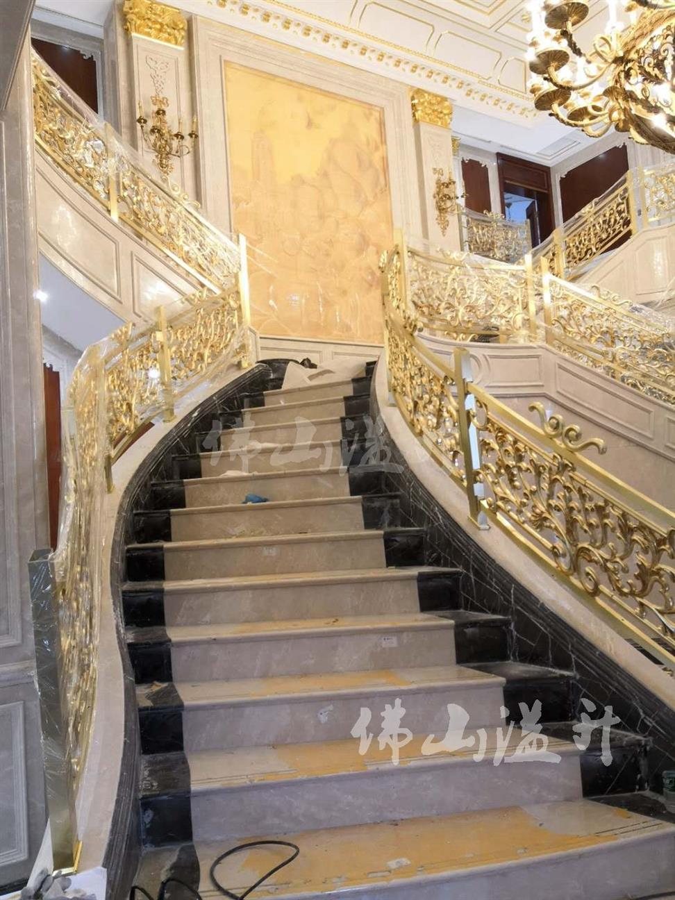 长沙潮流款铜艺楼梯扶手围栏