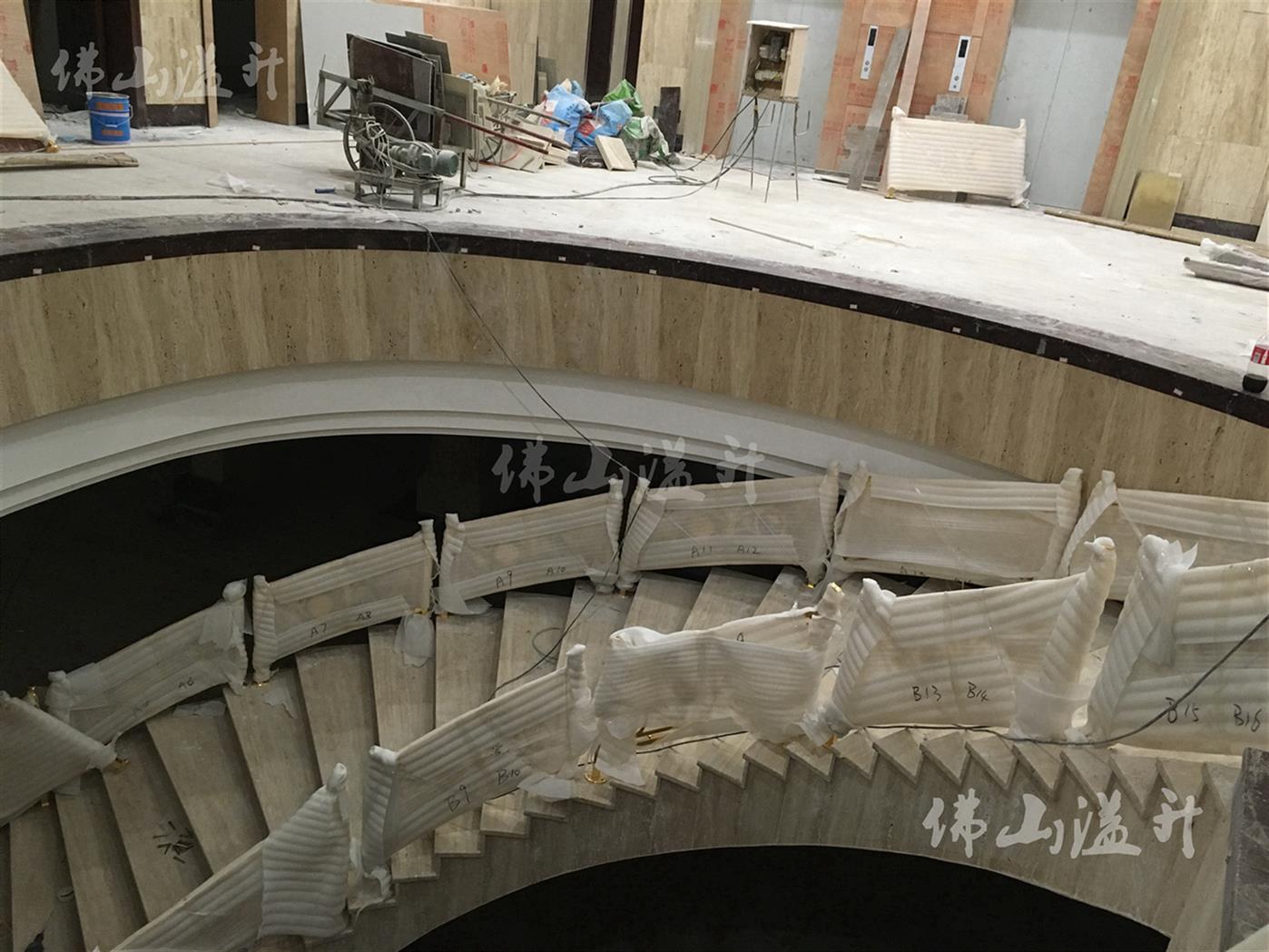 珠海完美全铜镂空设计铜艺楼梯扶手厂