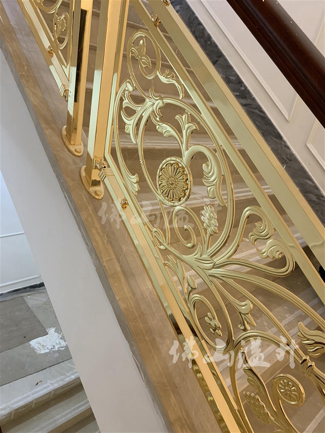 无锡铜楼梯扶手护栏