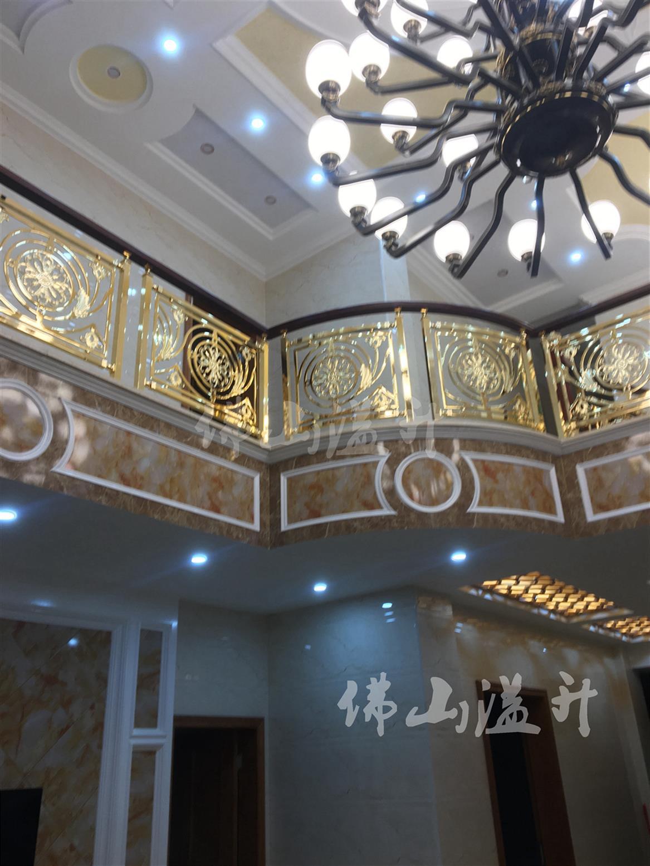 杭州华丽铜楼梯扶手制作