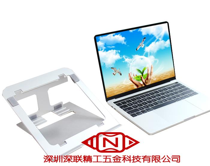 鋁合金電腦支架站立式辦公解放頸椎桌面筆記本支架便攜式支架