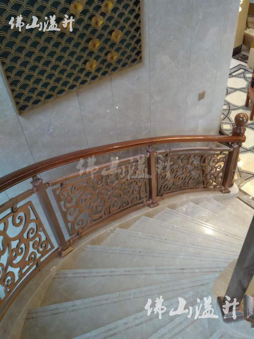 嘉兴金铝艺楼梯护栏厂