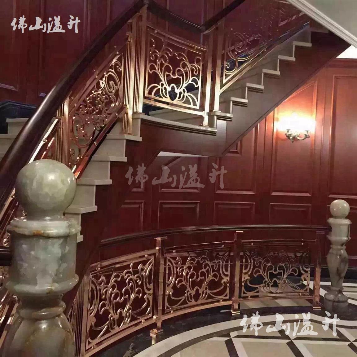 宜春大气铝艺楼梯护栏厂