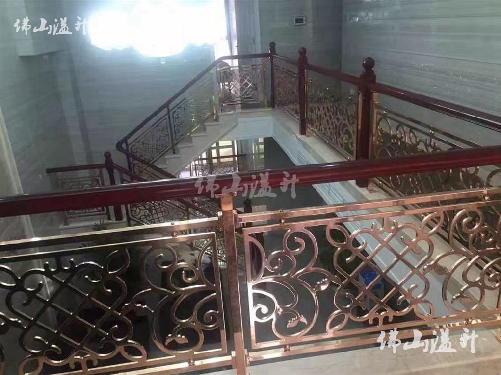 保定金铝艺楼梯护栏定做