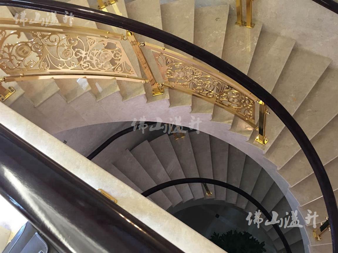 南通典型全铜定制铜艺楼梯扶手厂