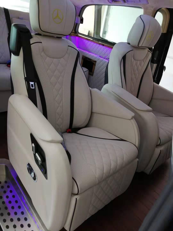 奔驰唯雅诺内饰改装升级豪华航空座椅