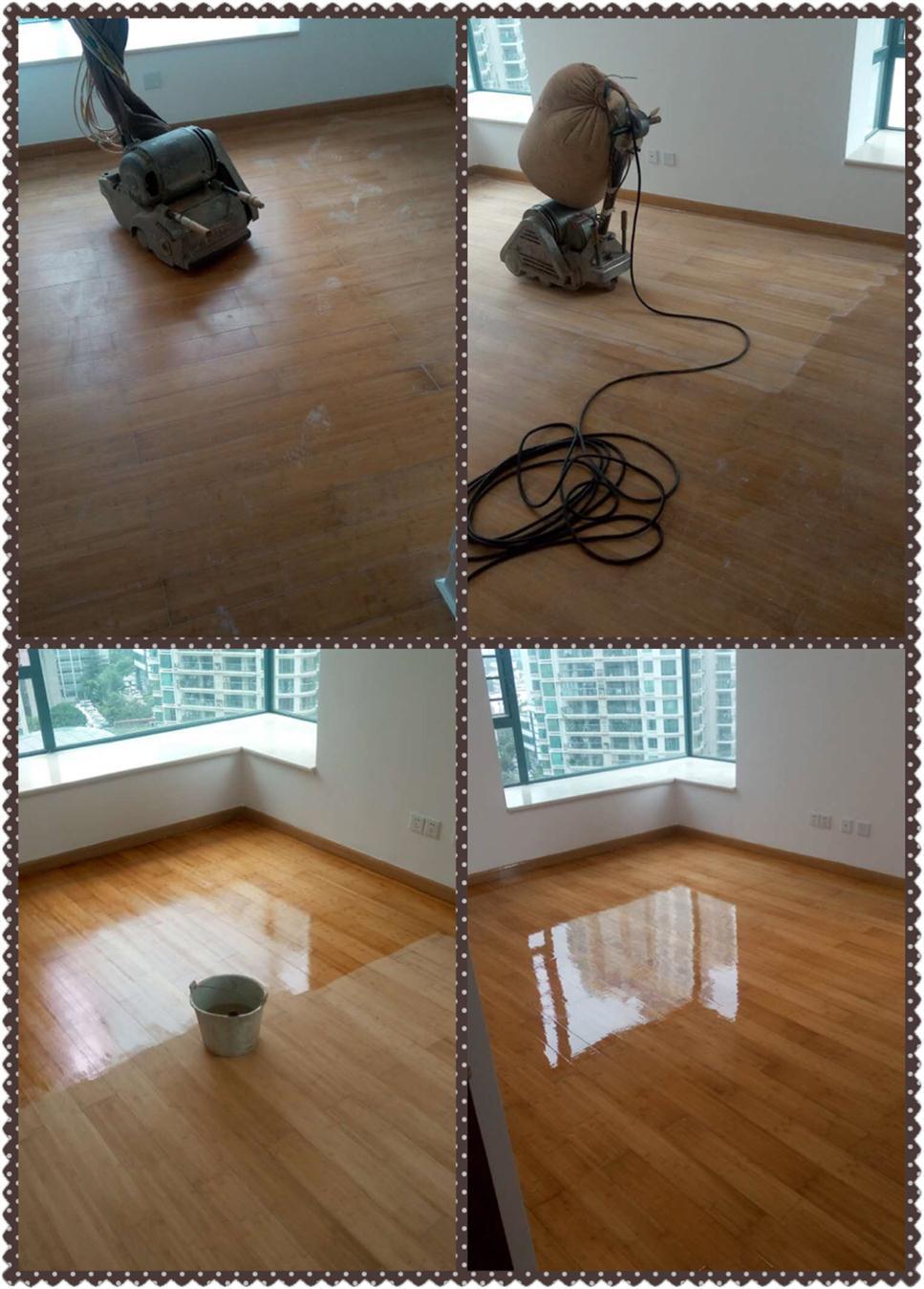 后海实木木地板翻新