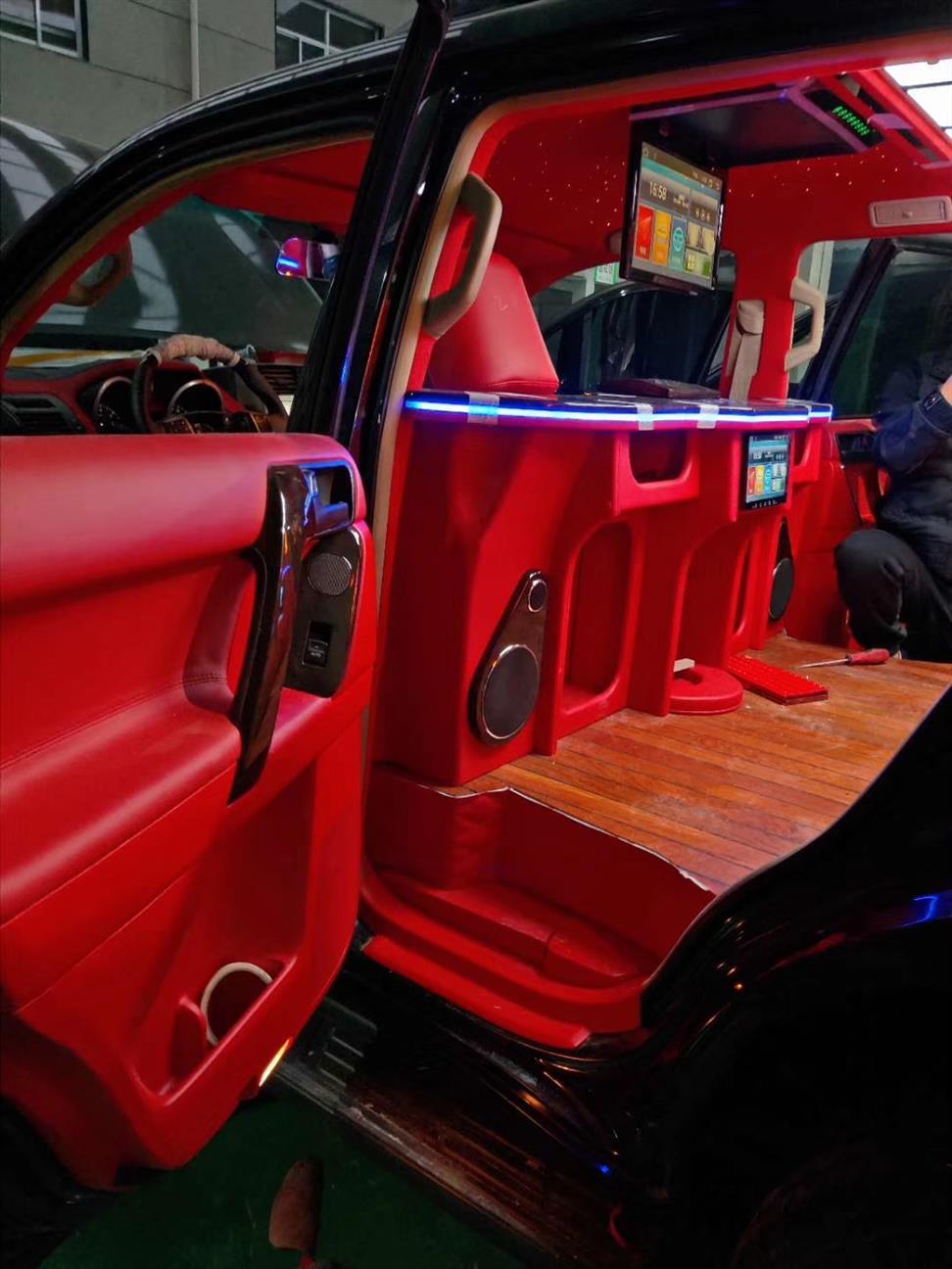 温州雷克萨斯LX570内饰改装升级航空座椅