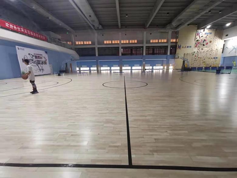 抚州安装划线篮球馆木地板