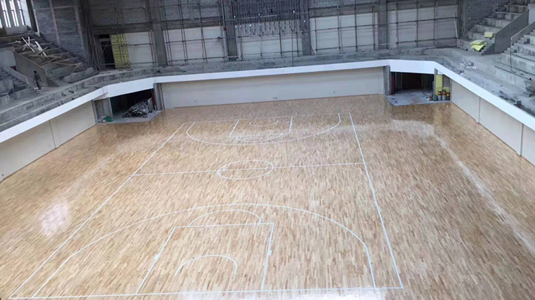 安康体育馆木地板加工