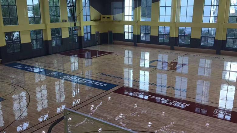 包头体育馆木地板加工