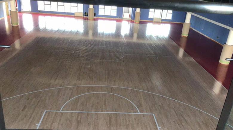崇左比赛专用篮球馆木地板