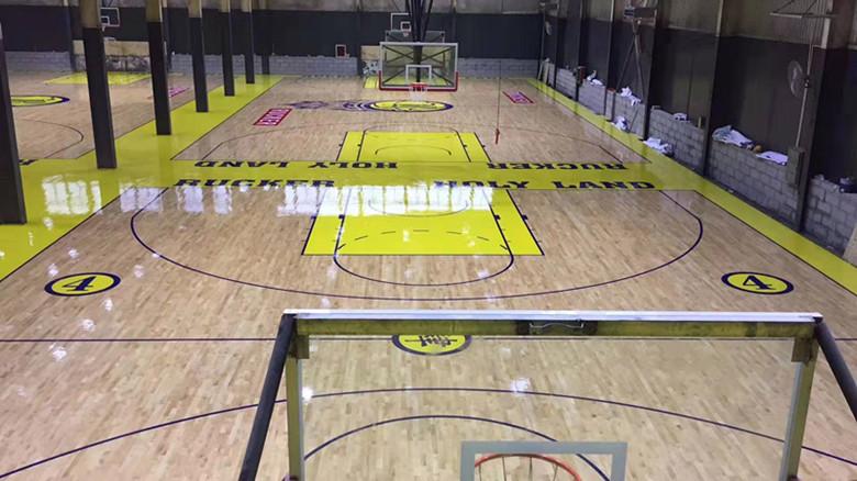 海口篮球馆运动木地板翻新
