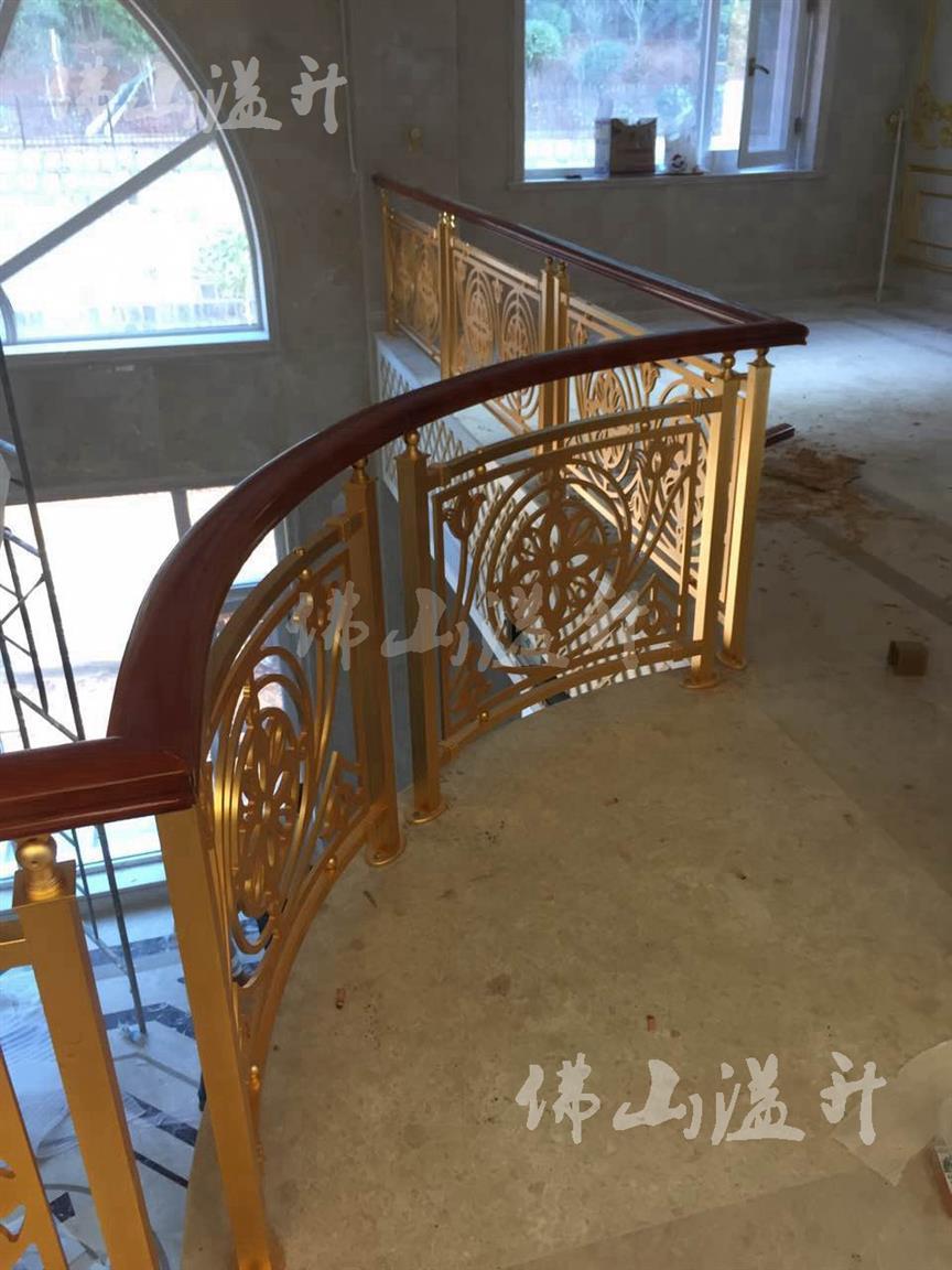 保定典雅全铜镂空设计铜艺楼梯扶手促销