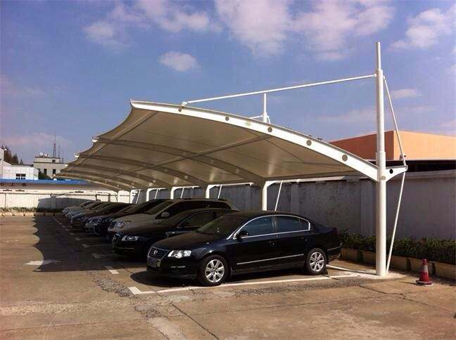 上海绿色膜结构车棚出售