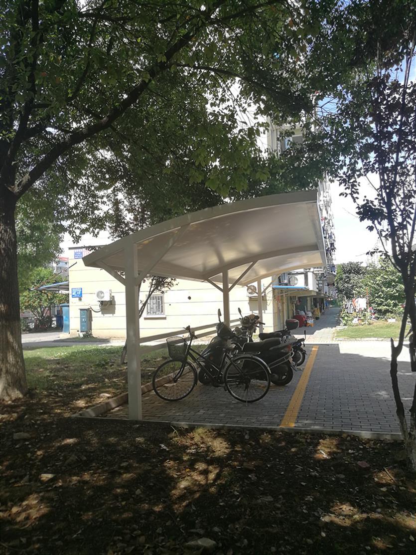 苏州绿色自行车车棚规格