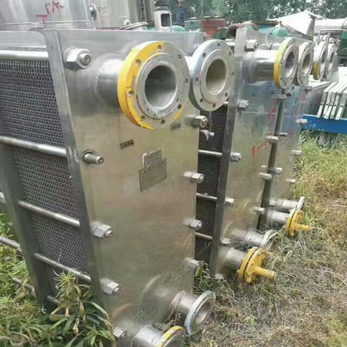 二手400平方316L不锈钢板式换热器出售