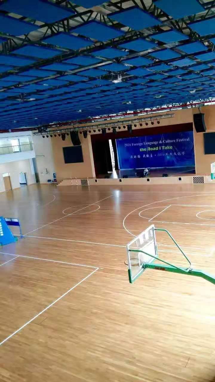 淄博硬木企口体育馆木地板