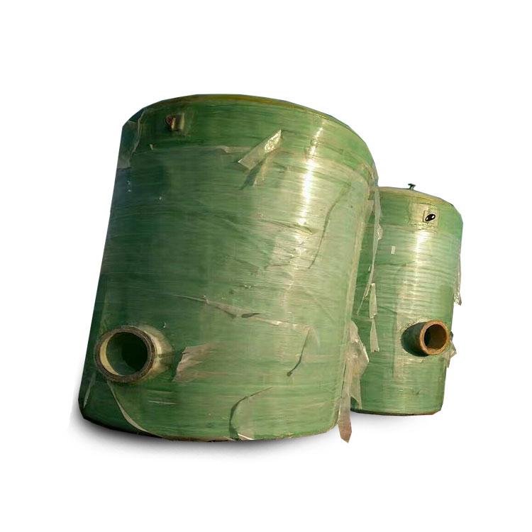 二手40吨玻璃钢生物化粪池玻璃罐储罐出售