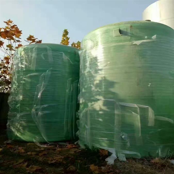 二手10立方玻璃钢化工罐玻璃罐储罐出售