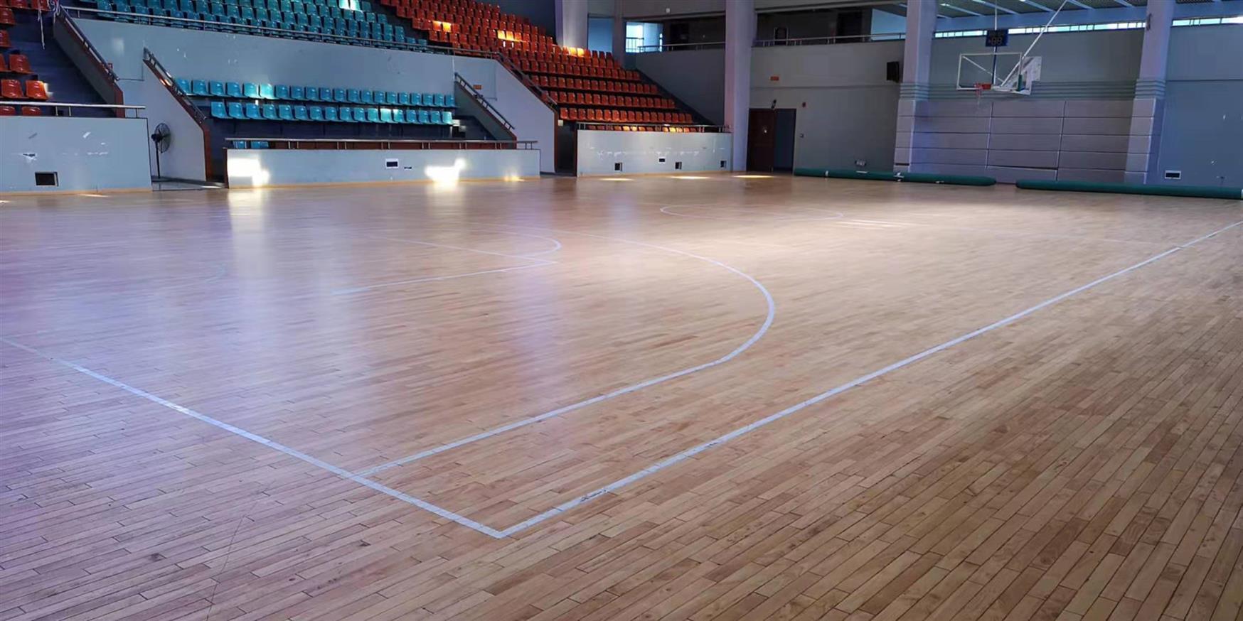 安化县篮球运动木地板施工