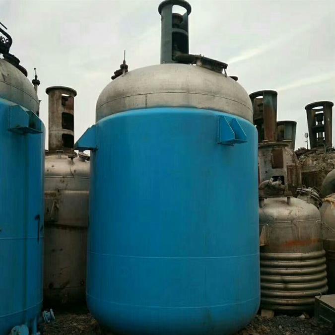 二手6吨奥氏体不锈钢反应釜出售