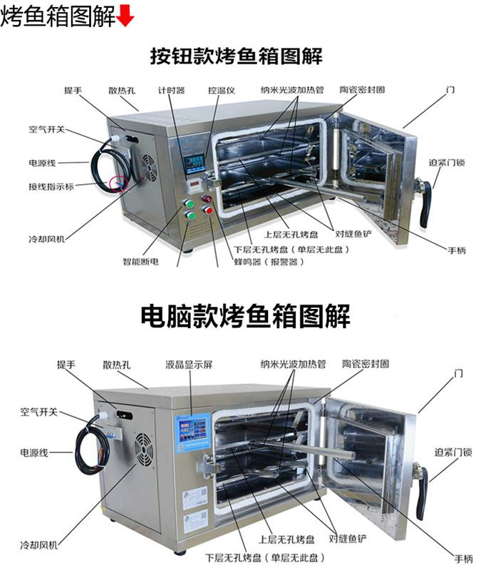 鞍山不锈钢电烤鱼箱商用厂家实拍图片和视频