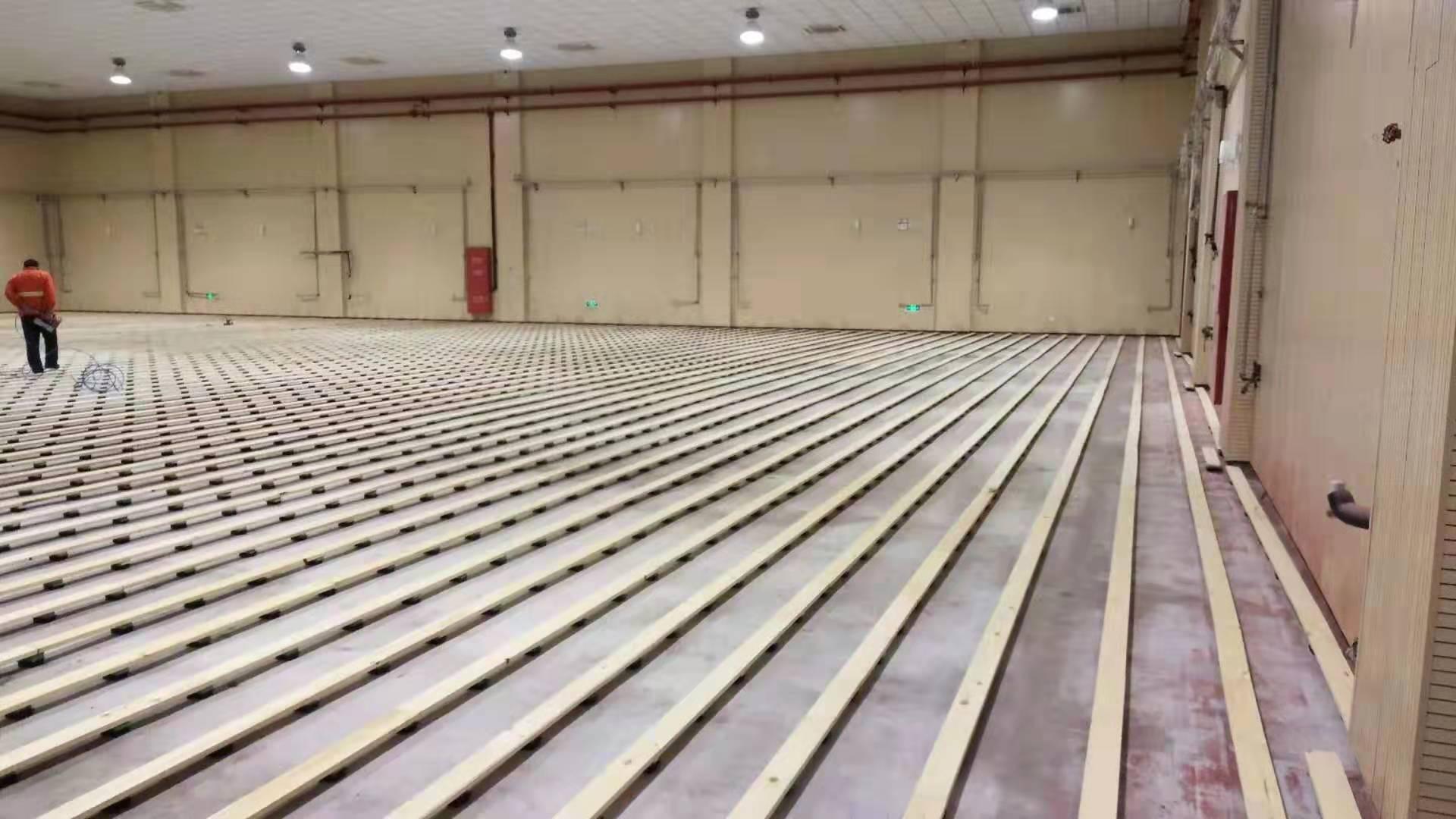福州学校橡胶木体育地板包安装